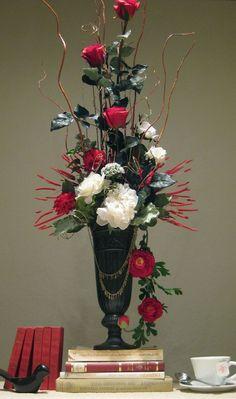 diy valentine s day floral arrangement floral arrangement floral and flower arrangements. Black Bedroom Furniture Sets. Home Design Ideas