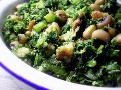 Migas de broa com grelos e feijão frade from http://elvirabistrot.blogspot.com.es/2008/04/migas-de-broa-com-grelos-e-feijo-frade.html