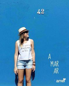Amar o mar azul #lojaamei #regata #jeans #muitoamor #azul