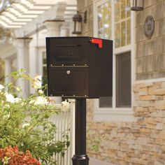Oasis Post Mounted / Pedestal Mounted Mailbox with Lock