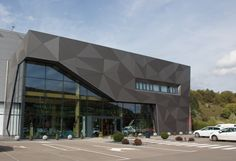 Asport Centre in Diekirch, Luxembourg Cladding Design, House Cladding, Facade Design, Facade House, Exterior Design, Office Building Architecture, Architecture Building Design, Building Facade, Modern Architecture House