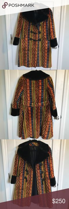 """Gorgeous Vintage Tapestry Coat Gorgeous Jewel Tone Vintage Tapestry Coat by Feller's. There is no tag for size but it feels like a small or size 2/4 * 38"""" length  * 21"""" shoulder to wrist  * 15"""" armpit to wrist  * 17"""" chest * 17"""" shoulder to shoulder Vintage Jackets & Coats"""