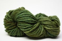 Single Ply sp Super Bulky Yarn  Hand dyed Merino 44sp13002 Olive. $14.00, via Etsy. ~ 44 yds (40 m) / 1.8 oz ( 50 g)
