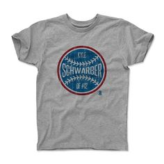 Kyle Schwarber Ball RB Chicago MLBPA Officially Licensed Toddler and Youth T-Shirts 2-14 years