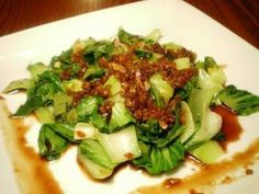... vegetables stir fry with oyster sauce and garlic oil. Any favorite
