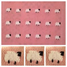Sheep Knitted Baby Blanket  'Precious Knit Blankies for Baby' (Leisure Arts# 5500)