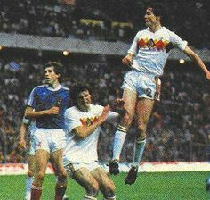 Belgium 2 Yugoslavia 0 in 1984 in Lens. A goal from Erwin Vandenbergh on 28 minutes makes it 1-0 to Belgium in Group A at Euro '84.