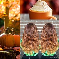 Dat pumpkin spice melt. Some autumnal inspiration #lyssdidmyhair…
