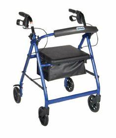 Rollator (4 wheel walker with seath and brakes)   www.konacoastmedical.wordpress.com www.konacoastmedical.com