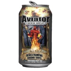 Cerveja Devil's Tramping Ground Tripel, estilo Belgian Tripel, produzida por Aviator Brewing, Estados Unidos. 9.2% ABV de álcool.