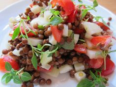Bright Lentil Salad with Apples, Fennel, and Herbs: Lowly Puy lentils meet crisp, fresh, and sweet apple and fennel for a light, bright, and hearty summer salad.