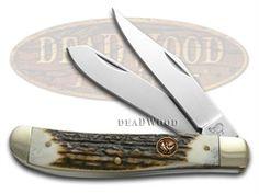 HEN & ROOSTER Deer Stag Trapper Pocket Knife - HR412DS | 412DS - 026615046417