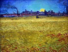 Vincent van Gogh WheatField at Sunset painting for sale - Vincent van Gogh WheatField at Sunset is handmade art reproduction; You can buy Vincent van Gogh WheatField at Sunset painting on canvas or frame. Vincent Van Gogh, Van Gogh Art, Art Van, Alberto Giacometti, Winterthur, Van Gogh Pinturas, Georges Seurat, Van Gogh Paintings, Sunset Paintings