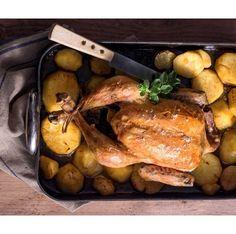 Κοτόπουλο φούρνου λεμονάτο με πατάτες