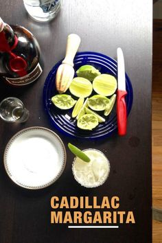A simple, true margarita relies on fresh squeezed lime juice, good tequila, and orange liqueur. This is how you make a real Cadillac Margarita. #margarita #margaritarecipe #cadillacmargarita #cocktailrecipe