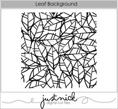 Leaf background – JustNick