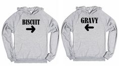 Biscuit and Gravy Best Friends Hoodie from Glamfoxx on Skreened #bff #bestfriends #hoodie #biscuits #gravy