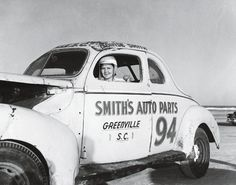 Louise Smith (1916-2006) was one of the first female NASCAR drivers.  She raced from 1949 to 1956 and is known as the first lady of racing.