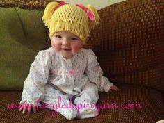 Toddler or Child Cabbage Patch Kid Hat with Pig Tails Choose your own color on Etsy, $30.00