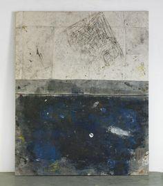 Oscar Murillo - work! #4, 2012, oil, oil stick, paper, dirt on canvas