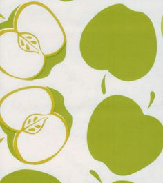 Day 60 - green apple pattern, Solvang Lime from Oilcloth International Food Patterns, Fabric Patterns, Print Patterns, Textile Design, Fabric Design, Pattern Design, Picnic Table Covers, Cosmetic Kit, Fruit Pattern