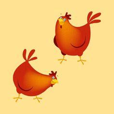 2 chicken Gabriele Antonini Children's illustrator Advocate art ...
