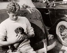 The History Place - John F. Kennedy Photo History: The Early Years: With Puppy