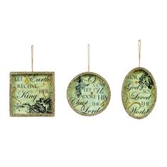 BEDAZZLED CHRISTMAS ORNAMENTS 3 ASSORTED