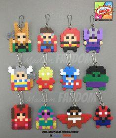 Perler Beads, Hamma Beads 3d, Perler Bead Art, Fuse Beads, Perler Earrings, Melty Bead Patterns, Beading Patterns, Perler Patterns, Superhero Party Favors