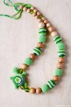 Nursing necklace / Breastfeeding Teething necklace by kangarusha
