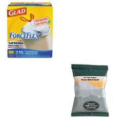 KITCOX70427GMT5493 - Value Kit - Green Mountain Coffee Roasters Fair Trade Organic House Blend Decaf Coffee Fraction Packs (GMT5493) and Glad ForceFlex Tall-Kitchen Drawstring Bags (COX70427) ** Be sure to check out this awesome product. (This is an affiliate link and I receive a commission for the sales)