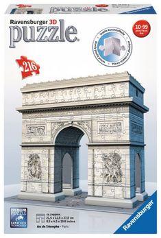 Ravensburger 3D Puzzle 216pc - The Arc De Triomphe