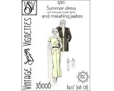 1930's Summer dress with matching jacket B42.5 PDF | Etsy