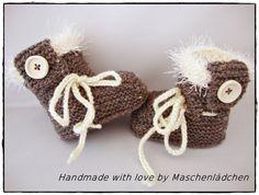 Strick- & Häkelschuhe - Babyschuhe  Babystiefel - ein Designerstück von Maschenlaedchen bei DaWanda