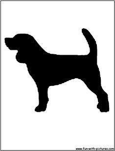image silhouette   Beagle Silhouette