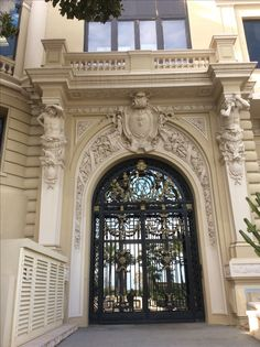 "The seaside entrance of the Monte Carlo casino was used for the 1979 tv series ""Rebecca"" Neoclassical Architecture, Baroque Architecture, Classic Architecture, Architecture Details, Fireplace Pictures, Georgian Interiors, Main Door, Iron Art, Balcony Design"