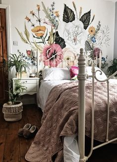 Wallpaper mural in the bedroom. Wallpaper mural in the bedroom. The post wallpaper mural in the bedroom. appeared first on wallpaper ideas. Home And Deco, Dream Rooms, My New Room, Home Bedroom, Bedroom Ideas, Bedroom Inspo, Master Bedroom, Dorm Room, Room Inspiration