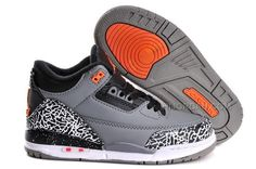 3888c8db946 Buy Big Discount Nike Air Jordan 3 Kids 2014 Grey Black Orange Shoes NkXka  from Reliable Big Discount Nike Air Jordan 3 Kids 2014 Grey Black Orange  Shoes ...