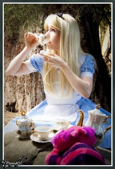 Tea Party Alice by clefchan Are you Mad as a Hatter? or Are you Alice? Amazing Alice in Wonderland Portrait Photography