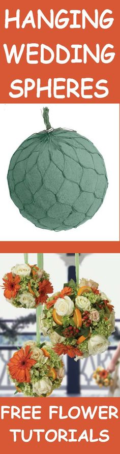 Learn How to Make a Pomander - Kissing Balls with Fresh Flowers  Learn how to make bridal bouquets, wedding corsages, groom boutonnieres, church decorations, and reception centerpieces.  Buy wholesale flowers and discount florist supplies.