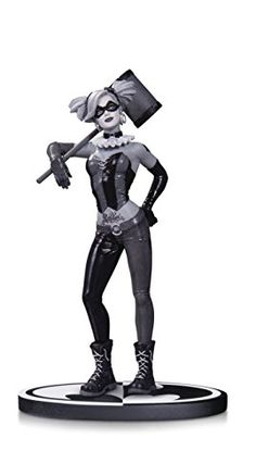 DC Collectibles Batman Black  White Harley Quinn by Lee Bermejo Statue -- Click image for more details.