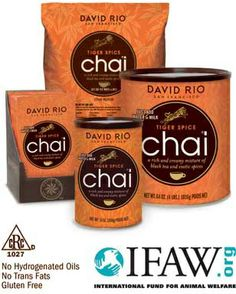 David Rio Tiger Spice Chai - Retail cans and packets available.