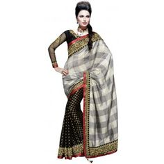 Stitched monochrome shaded #Saree