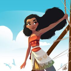 Disney's Moana fan art
