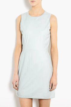 Theyskens' Theory Nexcel Dimo Leather Sleeveless Dress, $1,003.74; my-wardrobe.com