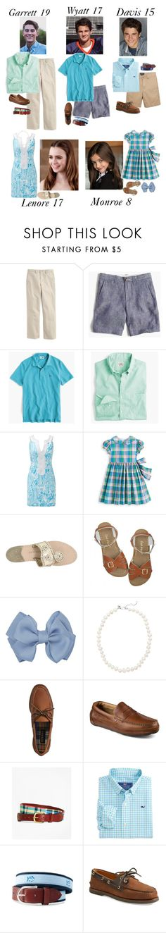 """The Hamilton Family: Church"" by my-preppy-family ❤ liked on Polyvore featuring Vineyard Vines, Lilly Pulitzer, Jack Rogers, J.Crew, Sperry, Brooks Brothers, Gameday Boots and Thehamiltons"