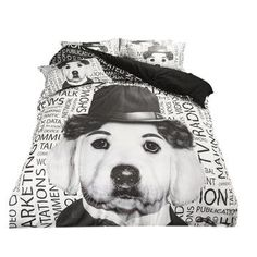 Black and White Dog Print Bedding Set Twin Queen King Size Duvet Cover Bed Sheets with Pillowcase Polyester Bedroom Sets King Size Duvet Covers, Duvet Cover Sets, Pillow Covers, Black Bed Sheets, Bedding Sets, White Bedding, Bedroom Sets, Black And White Dog, Textiles