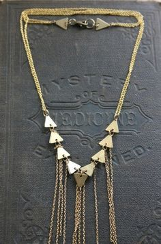 Laura Lombardi Geometric Fringe Necklace