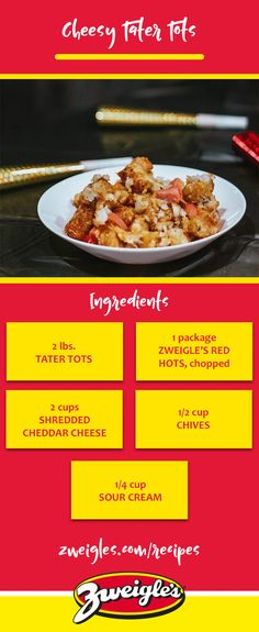 What's game day without the snacks, right? Whether you're celebrating baseball season, football season, basketball season or any other game, you're in luck. We're sharing a simple, delicious, and unexpected dish this week that'll have you ready to host in no time.   www.zweigles.com facebook.com/zweigles #zweigles #rochester #hotdogs #tatertot #recipe #cheese #cheesy