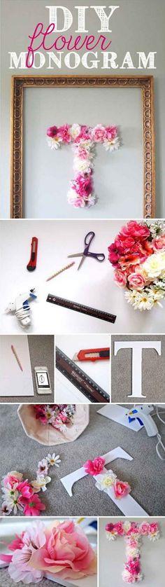 DIY Flower Monogram.